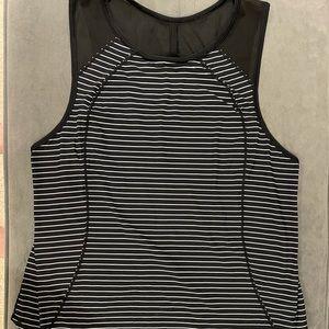 Black and white striped Lululemon tank top
